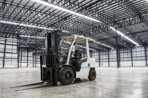 used forklift in factory